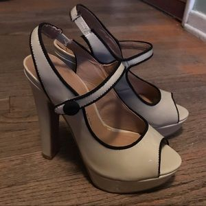 LC Lauren Conrad Cream Heels